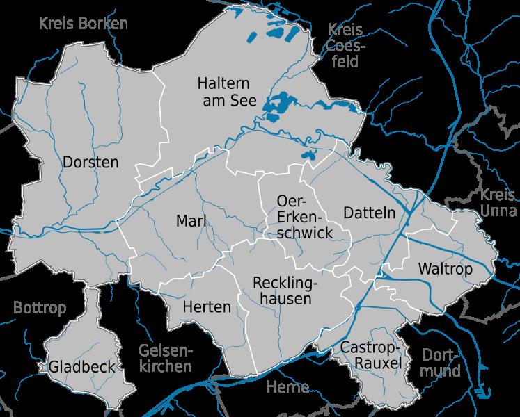 Kreis RE - Karte